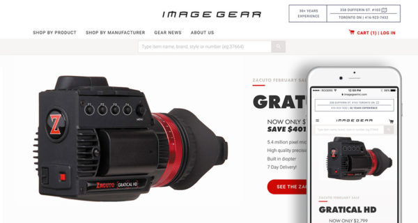 Image Gear on Shopify