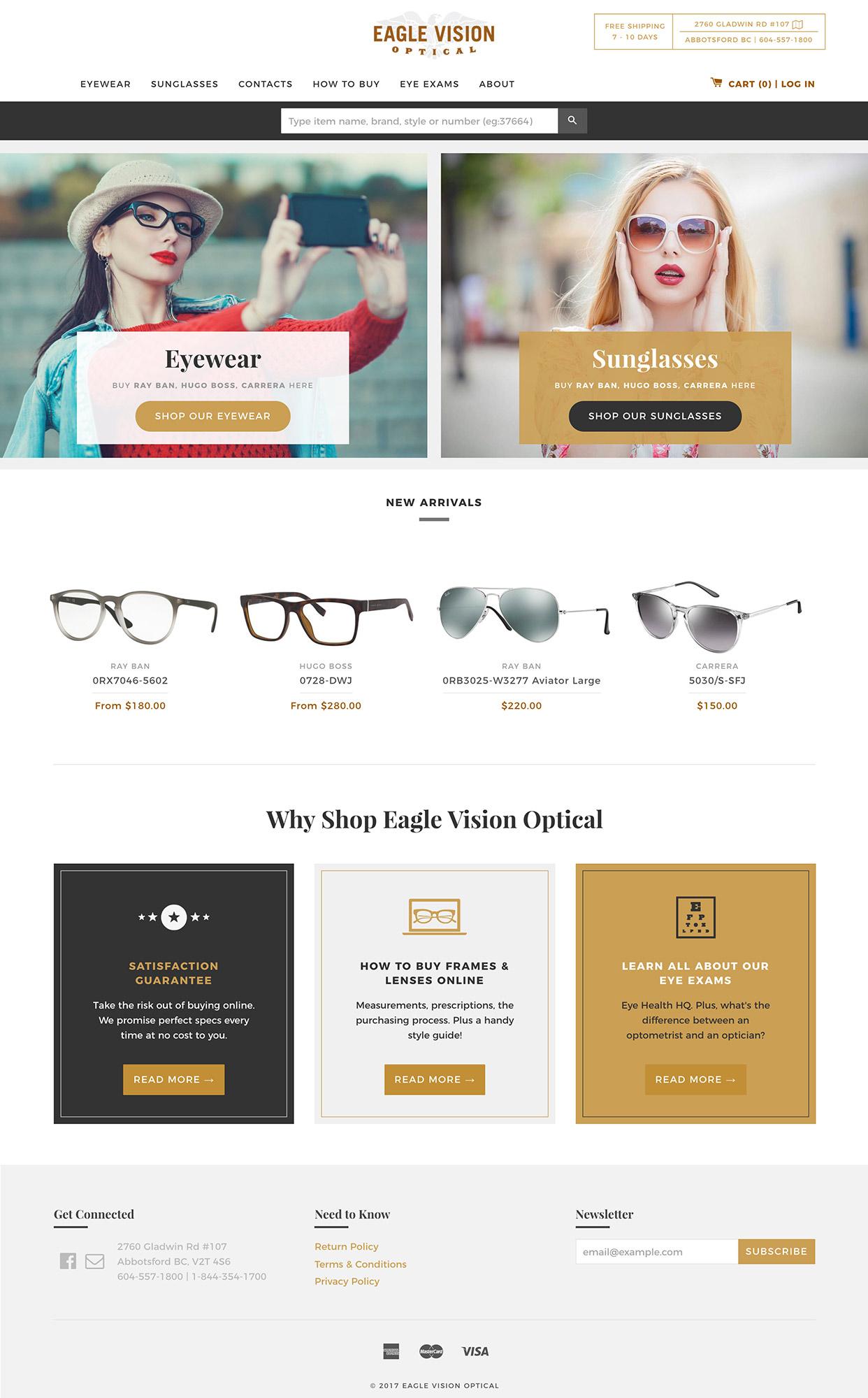 EV Optical on Shopify